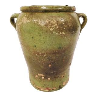 Antique Green Glazed Honey Jar