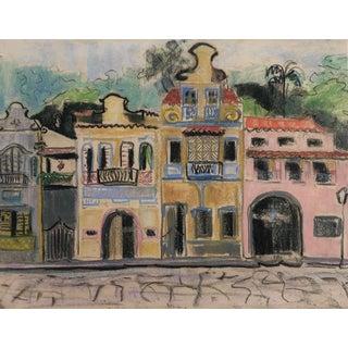 Rio De Janeiro Pastel by Tatiana McKinney 1950s For Sale
