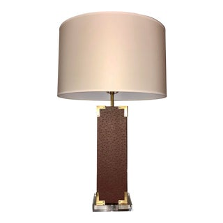 Robert Abbey Mary McDonald Faux Ostrich Table Lamp For Sale