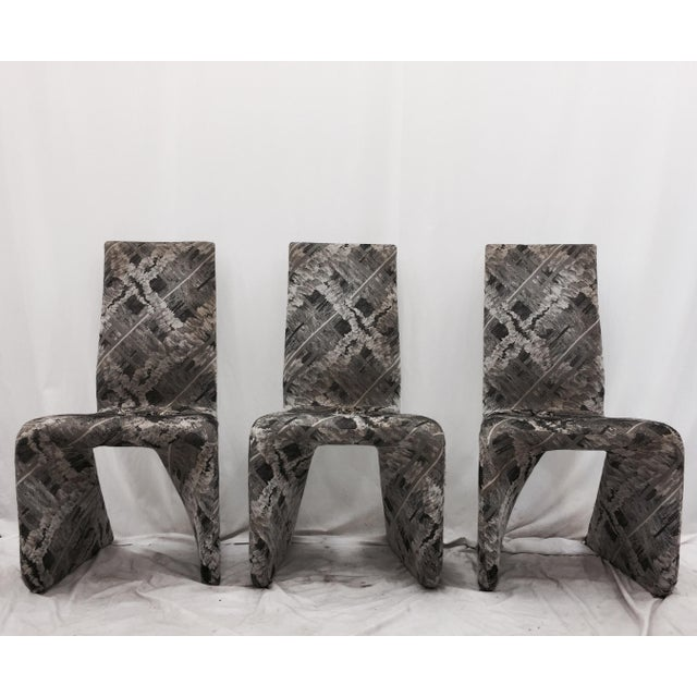 Futuristic Gray Swan Chairs - Set of 3 - Image 4 of 9