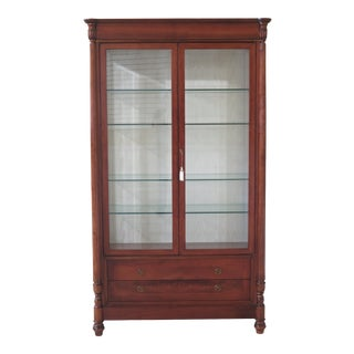 Italian Beveled Glass Lighted Display Cabinet For Sale