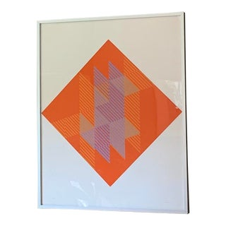 1975 Vintage Sewell Sillman Original Op Art Screenprint For Sale