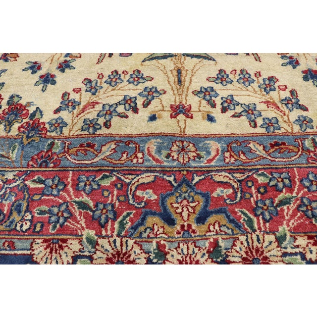 Antique Persian Kerman Palace Size Rug - 12′10″ × 15′2″ For Sale - Image 4 of 10