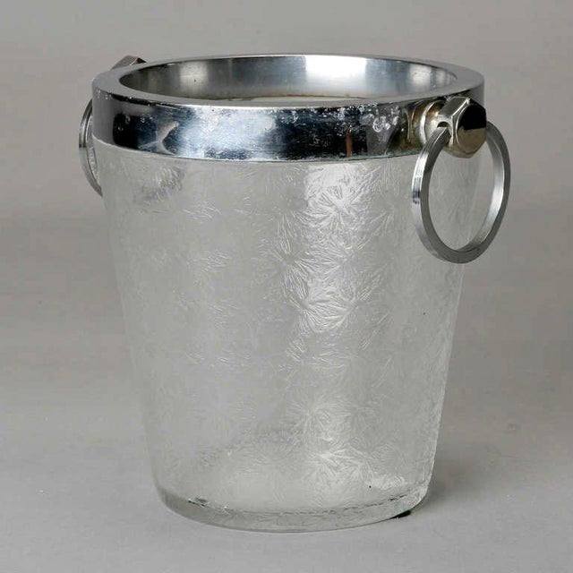 Art Deco Art Deco Heavy Crystal Ice Bucket For Sale - Image 3 of 6