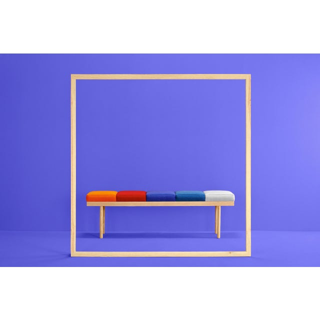 Dimensions: 45 x 150 x 45 cm Materials: Beechwood structure. Seat stuffed with polyurethane 3542. The Valentino bench is...