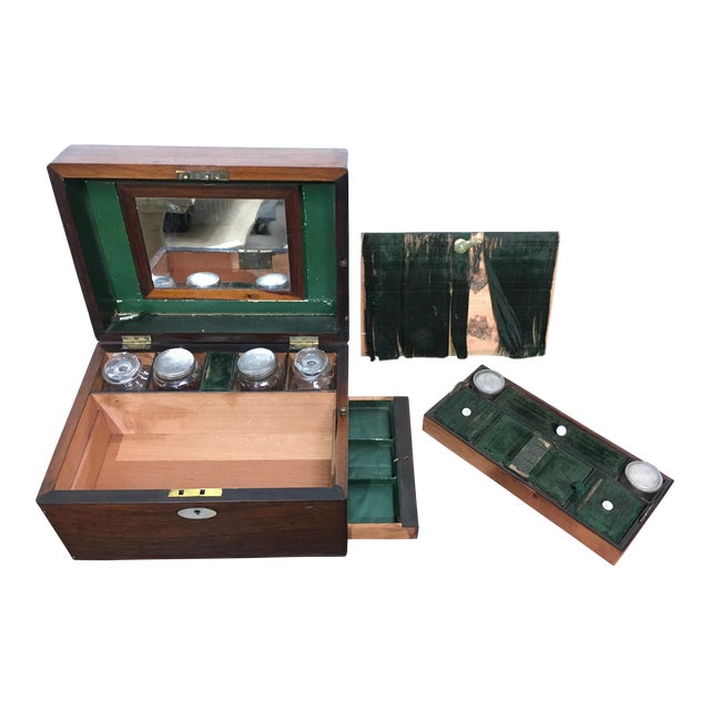 Victorian Gentleman's Traveling Dressing Table Set For Sale