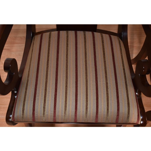 Late 19th Century 19th Century Antique Empire Solid Mahogany Dining Room Chairs- 6 Pieces For Sale - Image 5 of 13