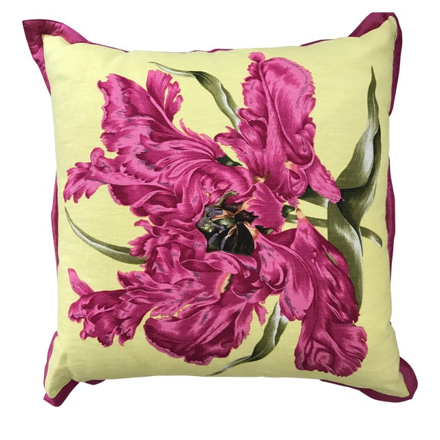 Jim Thompson Floral Pillow - Image 1 of 4
