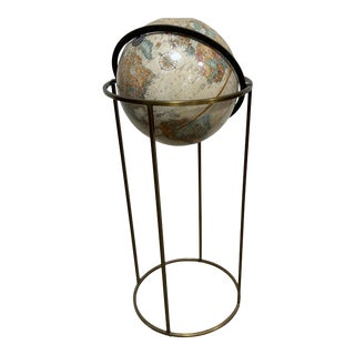 Replogle Globe in Brass Stand Paul McCobb For Sale
