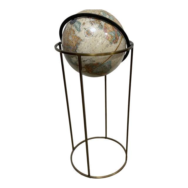 Replogle Globe in Brass Stand Paul McCobb For Sale