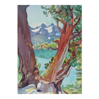 """Juniper Trio Above Caples Lake"" California Landscape For Sale"