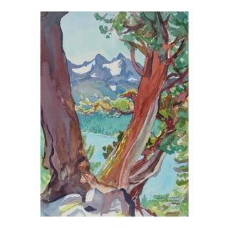 """""""Juniper Trio Above Caples Lake"""" California Landscape"""
