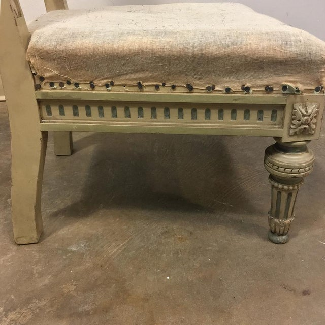19th Century Italian Neoclassical Painted Prayer Kneeler - Prie Dieu For Sale - Image 10 of 11