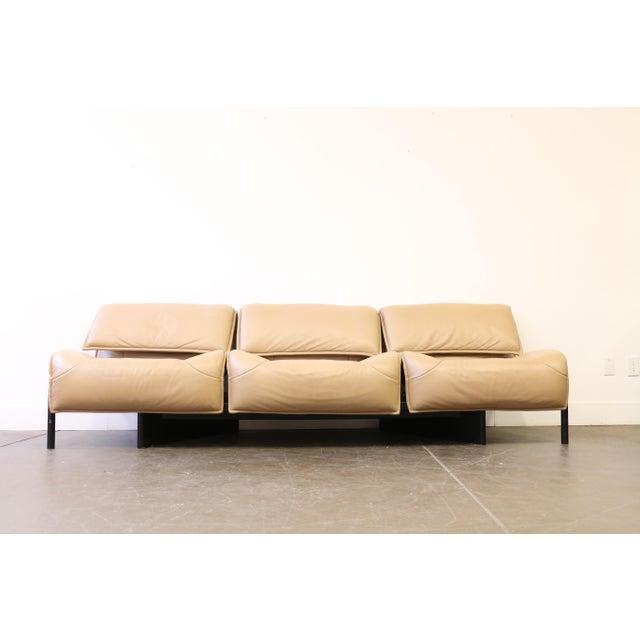 Cassina Leather Veranda 3 Sofa by Vico Magistretti for Cassina For Sale - Image 4 of 13