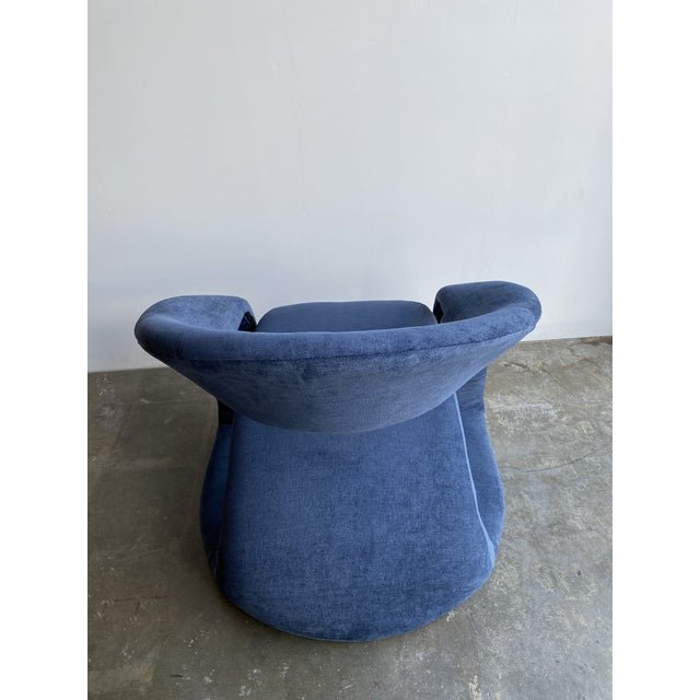 1980s Vintage Memphis Sculptural Cantilever Chairs and Ottoman For Sale - Image 10 of 13