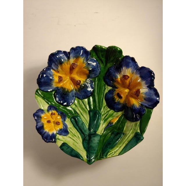 Vintage Italian Hand Painted Iris Bowl - Image 2 of 10