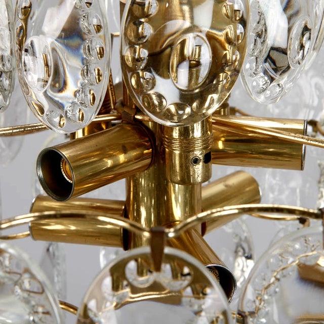 Kinkeldey Suspended Glass Disks & Brass Chandelier - Image 6 of 6
