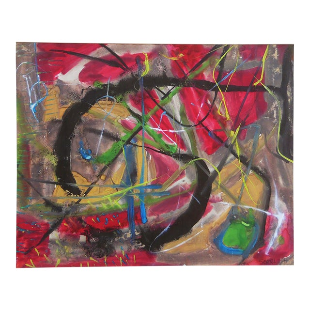 Rolph Scarlett Abstract Composition Painting For Sale