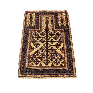 1950s Vintage Persian Rug - 2′9″ × 4′3″ For Sale