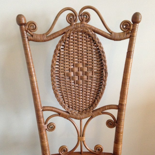 Heywood Brothers Wakefield Antique Victorian Wicker and Cane Chair For Sale - Image 5 of 9