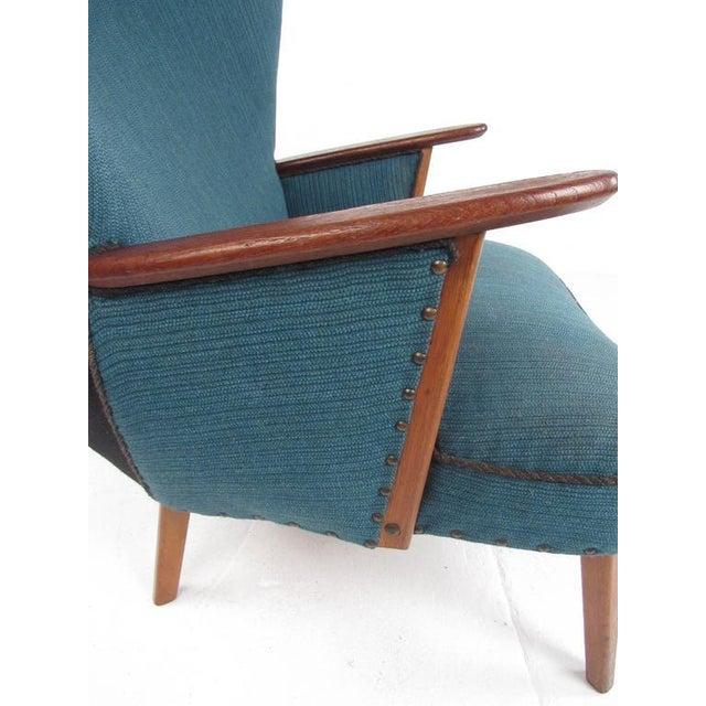 Blue Madsen & Schübel Pragh Wingback Lounge Chair For Sale - Image 8 of 9