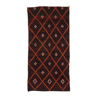 Vintage Berber Moroccan Gallery Rug with Mid-Century Modern Style