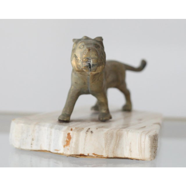 Vintage Mid-Century Brass Lion Paperweight - Image 3 of 5