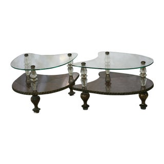 Hollywood Regency Boomerang Side Tables - Pair