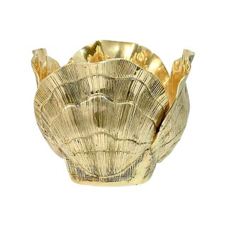 Solid Brass Shell Bowl For Sale