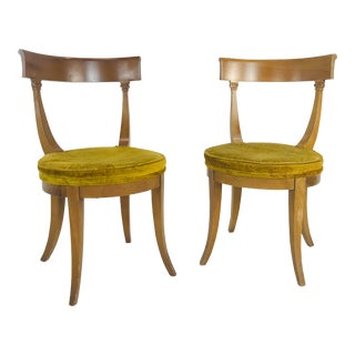 Pair MCM Klismos Side Chairs For Sale