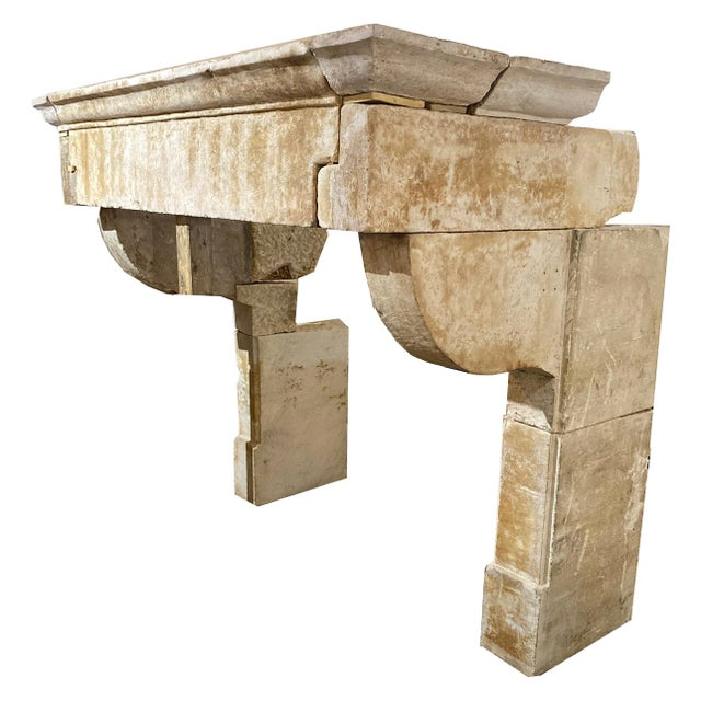 Early 19th Century Louis XIII Antique Limestone Mantel, circa 1680 For Sale - Image 5 of 5