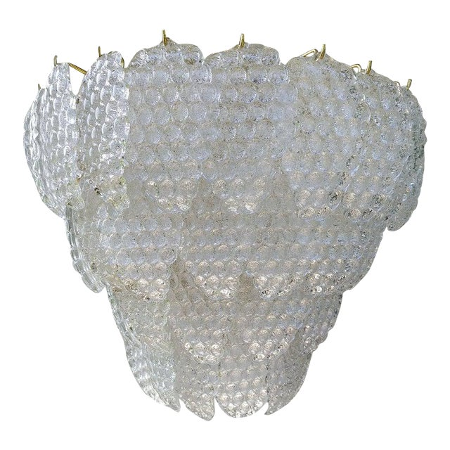 Vintage Murano Glass Ball Room Chandelier For Sale