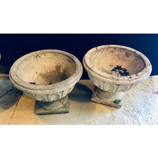 Set of Four Cast Stone Urns or Flower Pots Preview