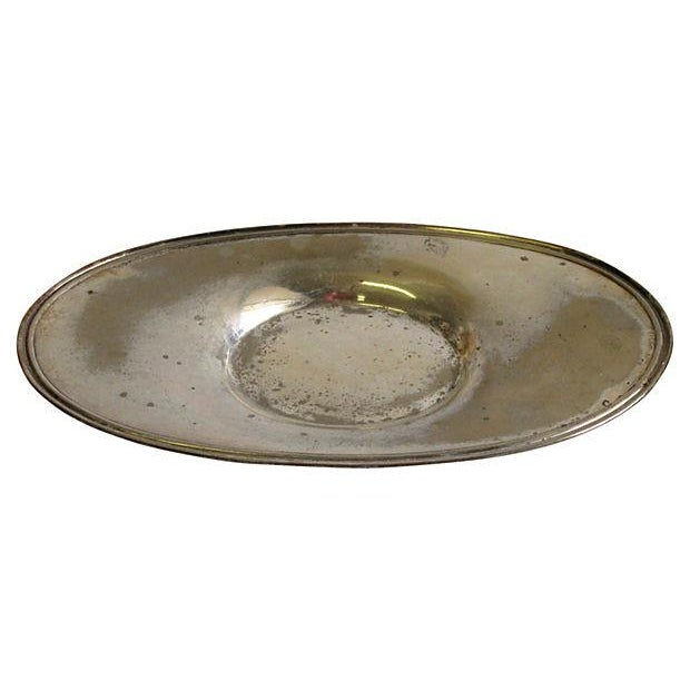 English Traditional 1916 Hotel Silver Gravy Boat & Underplate For Sale - Image 3 of 3