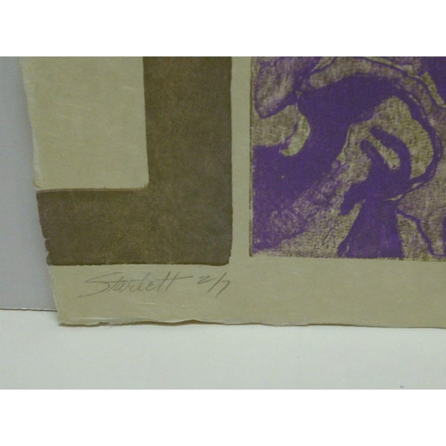 "1968 ""Starlett"" Signed Print For Sale - Image 4 of 6"