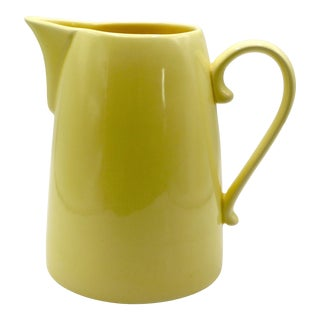 1980s Modern Yellow Beverage Pitcher For Sale