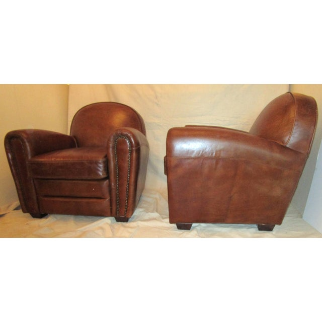 Leather Club Chairs - Pair - Image 2 of 5