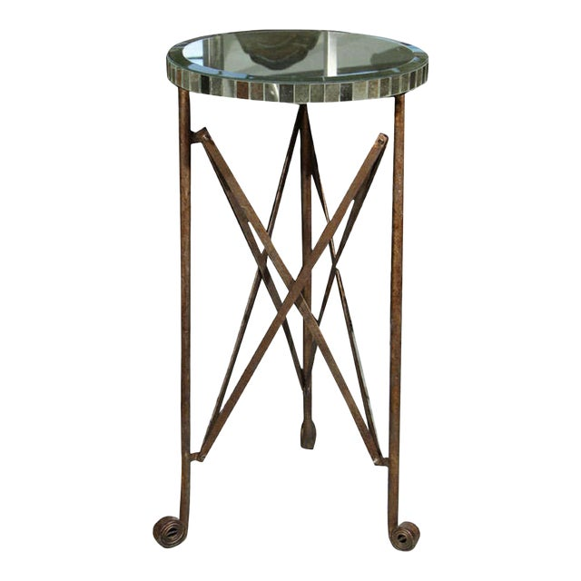 Mirror Top Metal Stand For Sale