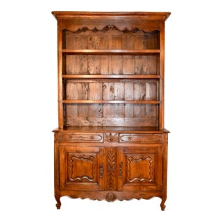 18th C Country French Wall Cupboard For Sale