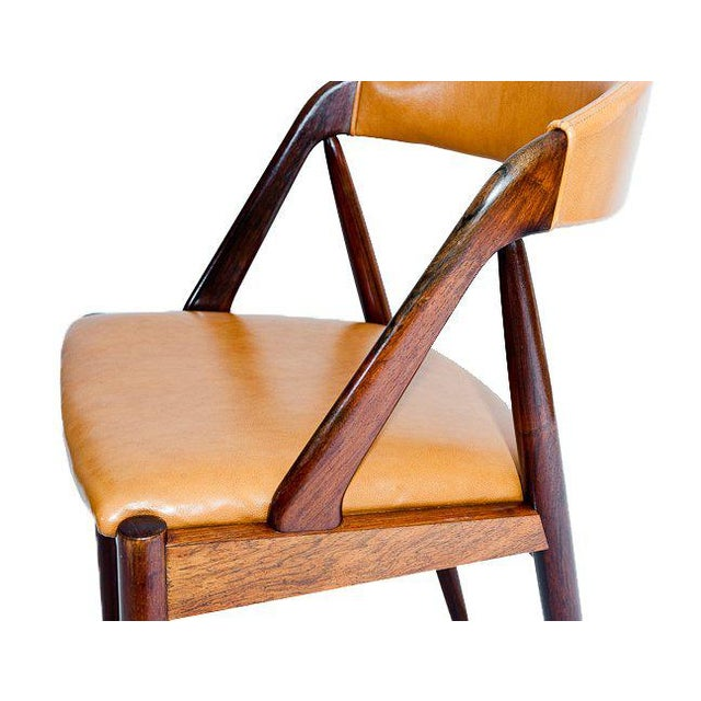 Wood Set of Six Rosewood Kai Kristiansen Chairs For Sale - Image 7 of 9