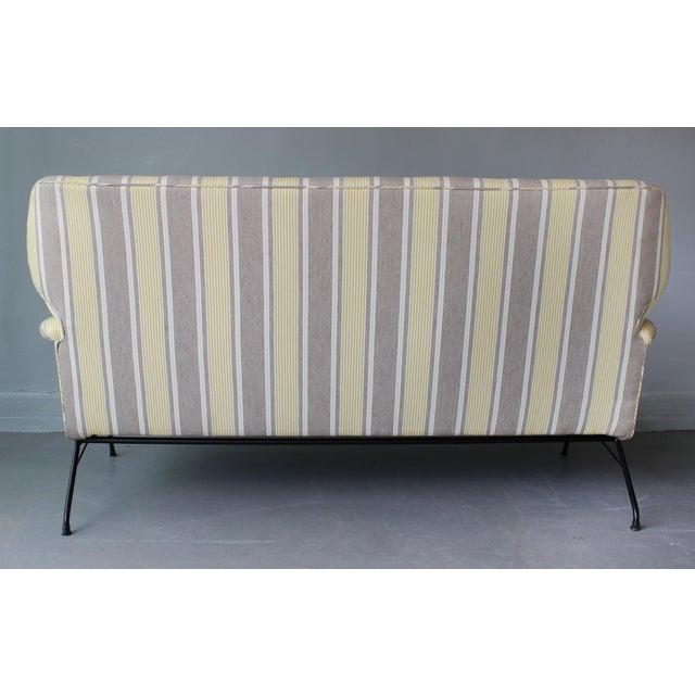 RIMA 1950s Italian Wing Back Sofa For Sale - Image 4 of 6