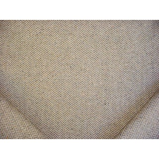 Traditional Clarence House Maxwell Hickory Brown Chevron Drapery Upholstery Fabric - 2-1/2 For Sale