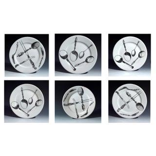 Piero Fornasetti Pottery Plates - Set of 6 Preview