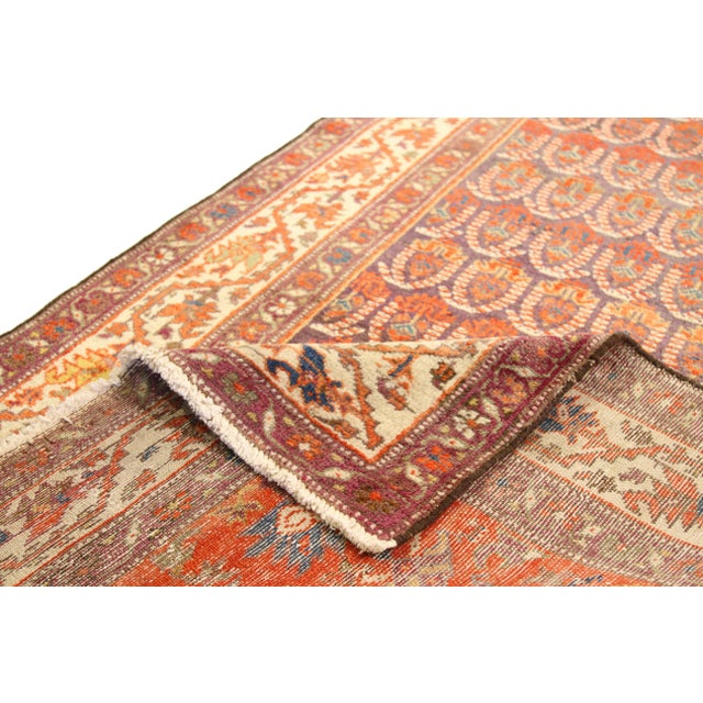 Islamic 1920's Twin Antique Persian Rug Malayer Design Circa 1920's - 3′5″ × 19′8″ For Sale - Image 3 of 11