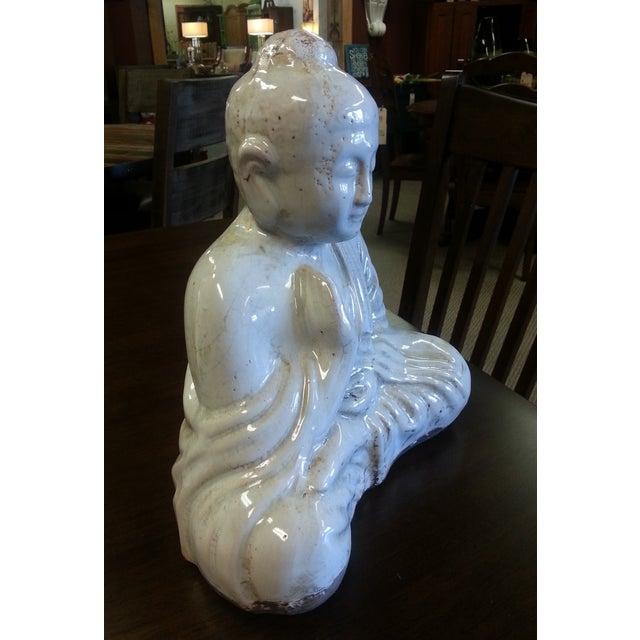 Sitting Buddha Statue With Ivory Finish - Image 3 of 7