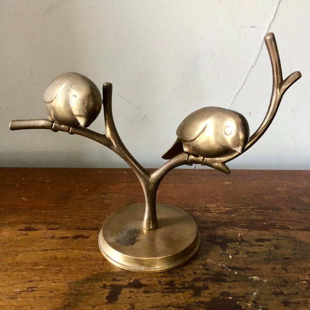 Mid 20th Century Mid Century Brass Birds Sculpture For Sale - Image 5 of 5