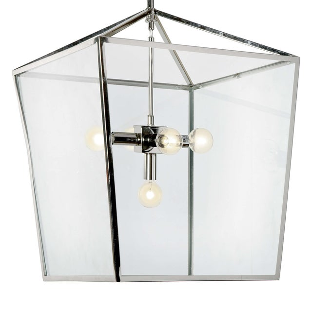 Camden Lantern in Polished Nickel For Sale In Detroit - Image 6 of 9
