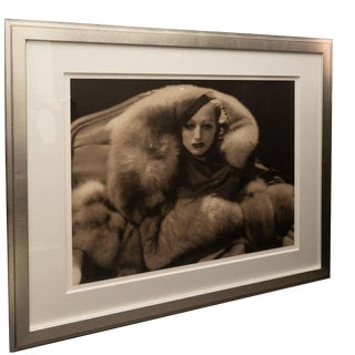 Vintage 2000 George Hurrell Joan Crawford in Furs Digital Photograph From 1932 Restored Negative For Sale