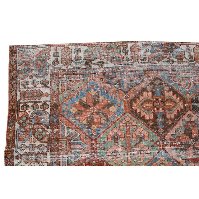 Antique Persian Distressed Bakhtiari Rug - 6′7″ × 10′ For Sale - Image 4 of 5