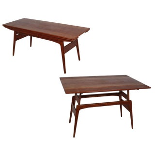 Danish Teak Metamorphic Dining / Coffee Table For Sale